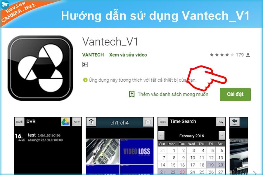 Cài đặt Vantech_V1