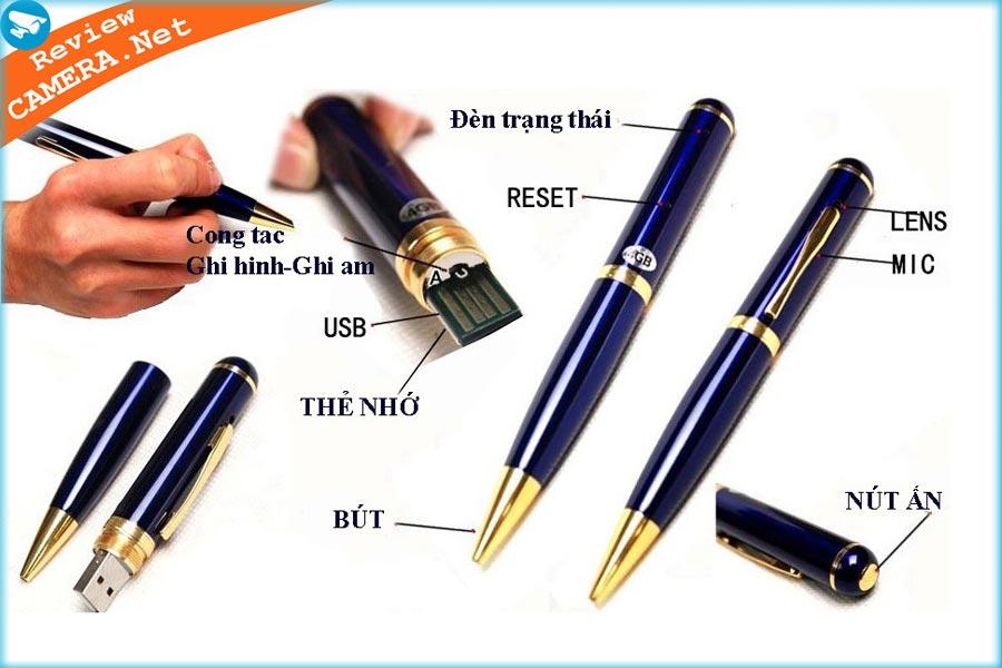 camera ngụy trang hình cây viết
