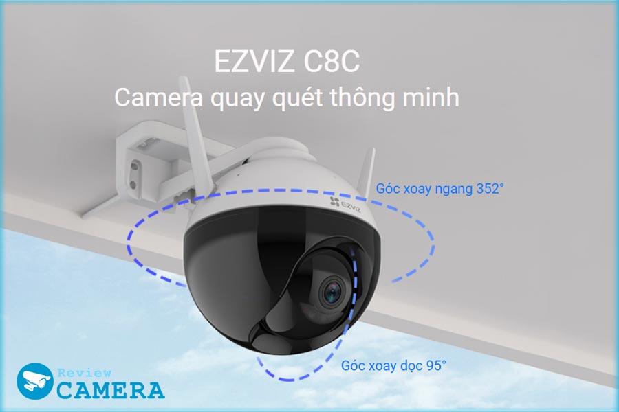 Review Camera Ezviz C8C thông minh có màu ban đêm
