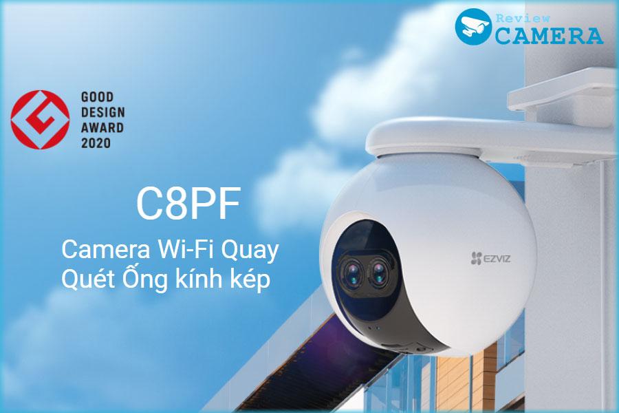 Review Camera Ezviz C8PF - Camera ống kính kép, phóng to hình ảnh lên đến 8 lần
