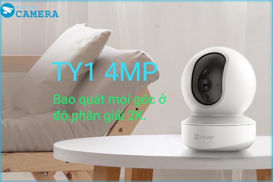 [Mẫu Mới] Camera IP Wifi EZviz TY1 4MP - độ phân giải 2K hình ảnh siêu nét