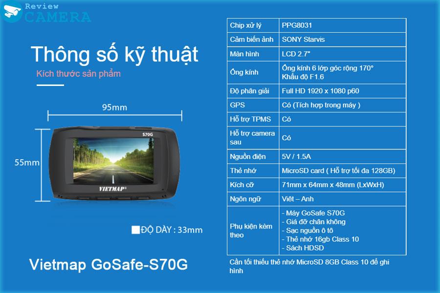 Camera hành trình Vietmap GoSafe-S70G