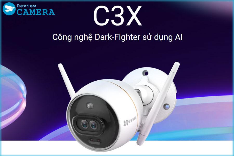 Review Camera Ezviz C3X - Ống kính kép với công nghệ AI thông minh