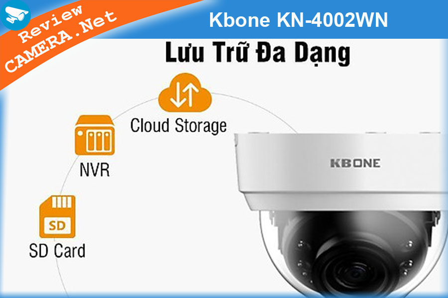 Review Camera wifi KBONE KN-4002WN - Góc nhìn siêu rộng, hình ảnh siêu nét