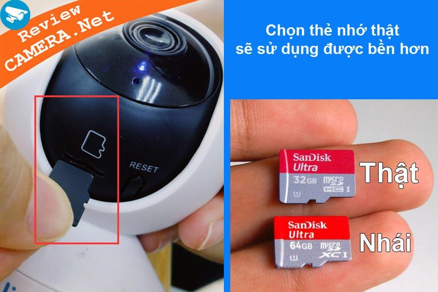 Lỗi thẻ nhớ camera wifi