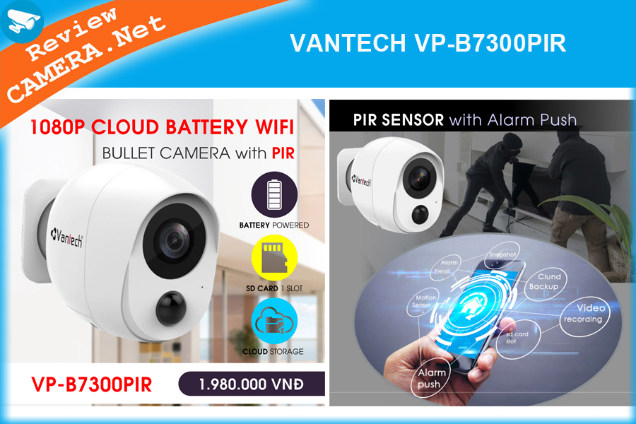 Camera wifi VANTECH VP-B7300PIR