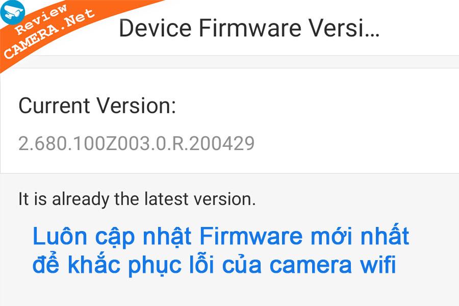 Cập nhật firmware cho camera wifi