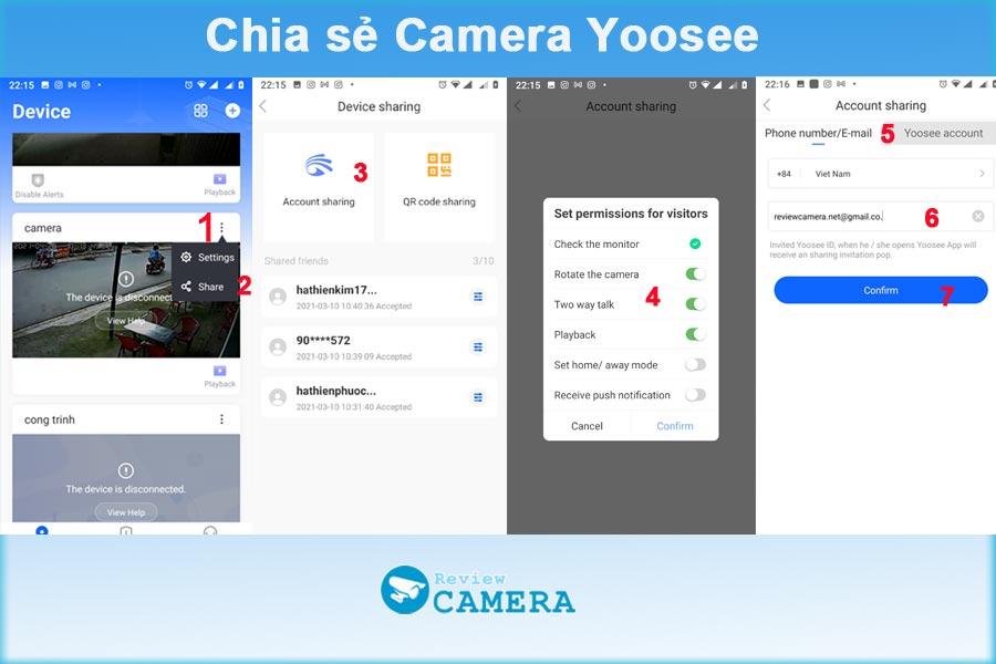 Chia sẻ camera Yoosee