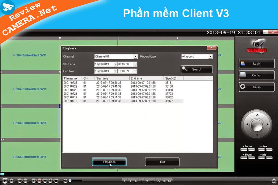 Phần mềm Client V3 xem camera trên máy tính