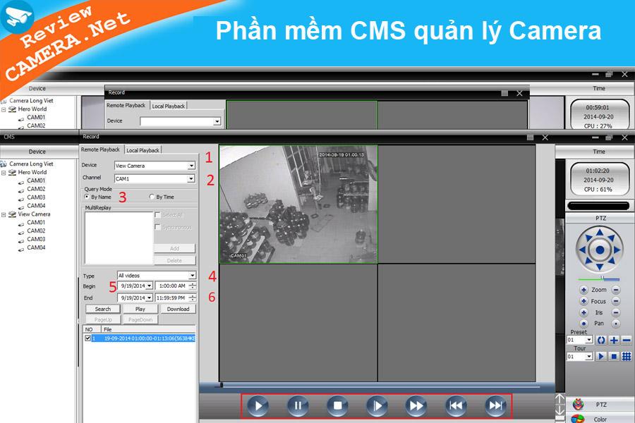 Phần mềm CMS quản lý camera