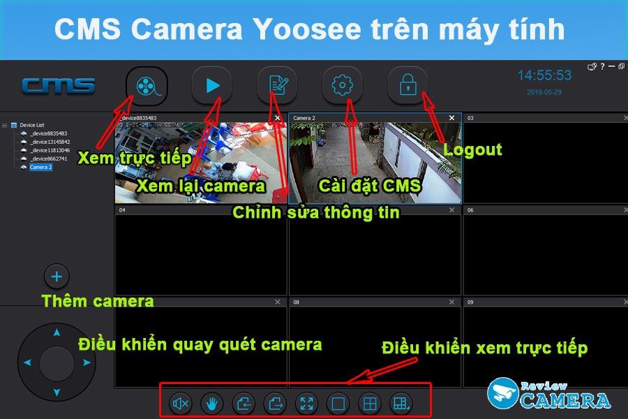 Xem camera Yoosee trên máy tính