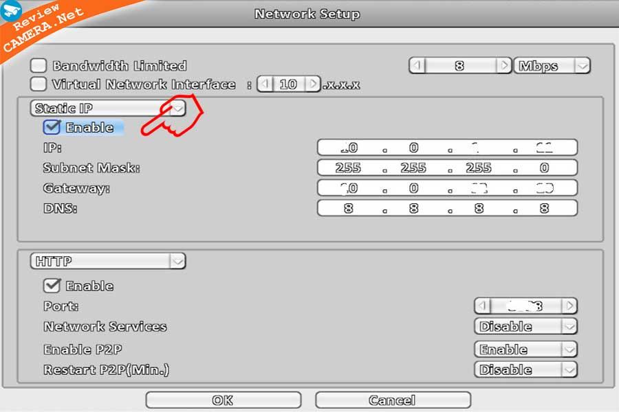 Đặt IP tĩnh cho camera Vantech V1