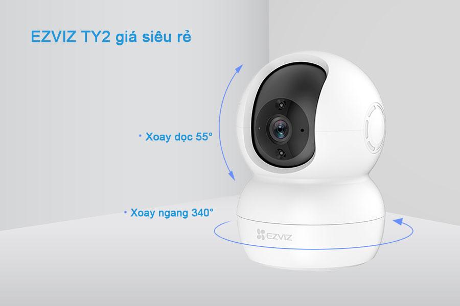Review Camera EZVIZ TY2 - Camera quay quét thông minh giá rẻ