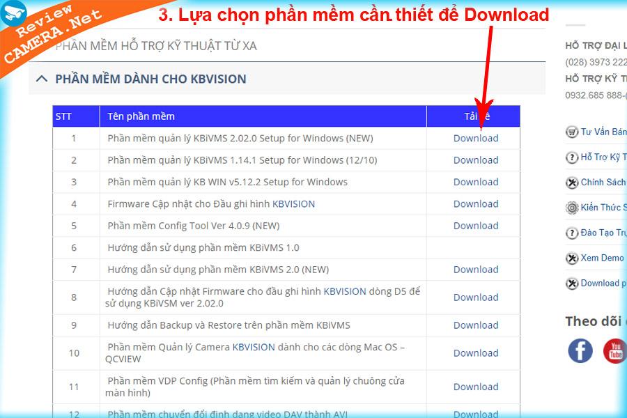 Download phần mềm Kbvision