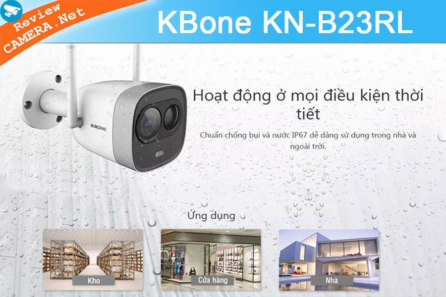 Review Camera Wifi KBone KN-B23RL - Báo động thông minh bằng đèn chiếu sáng và còi hú âm lượng lớn