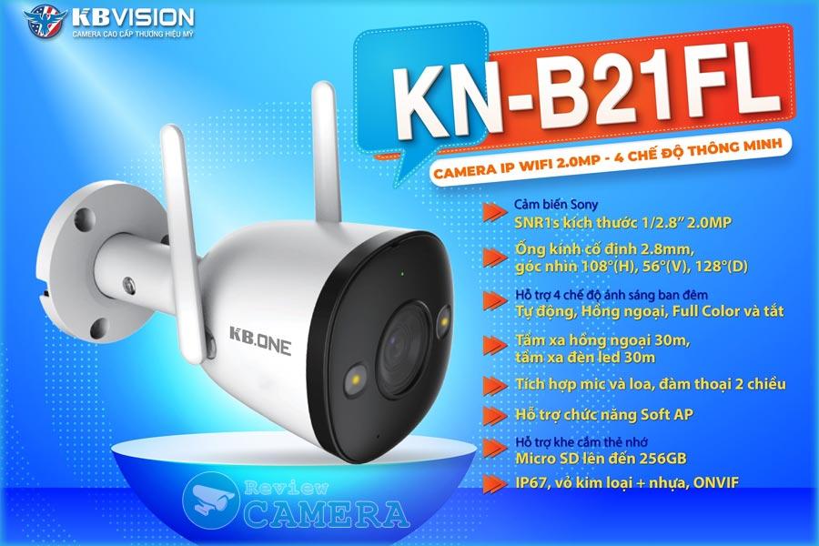 Review Camera Wifi KBONE KN-B21FL - Cảnh báo chủ động bằng đèn và còi hú âm lượng lớn