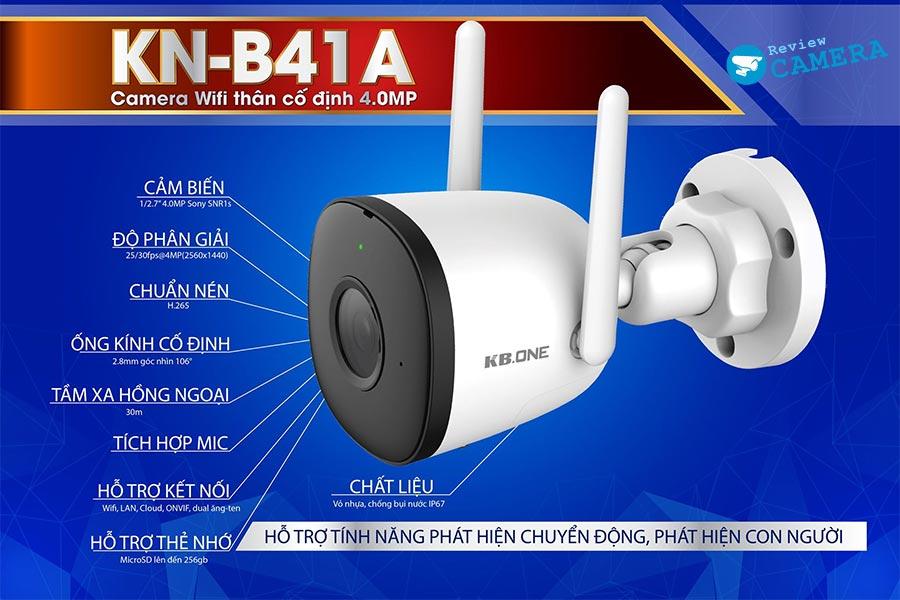 Review Camera KBone KN-B41A - Độ phân giải 4Mpx sắc nét đến từng chi tiết