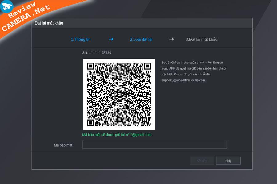 Khôi phục mật khẩu camera kbvision