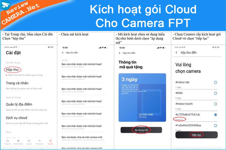 Kích hoạt Cloud cho camera fpt