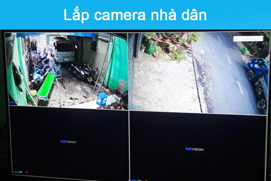 Lắp đặt camera nhà dân