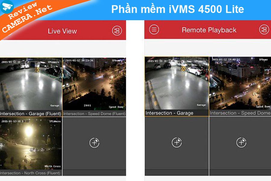 Phần mềm xem camera iVMS 4500 Lite