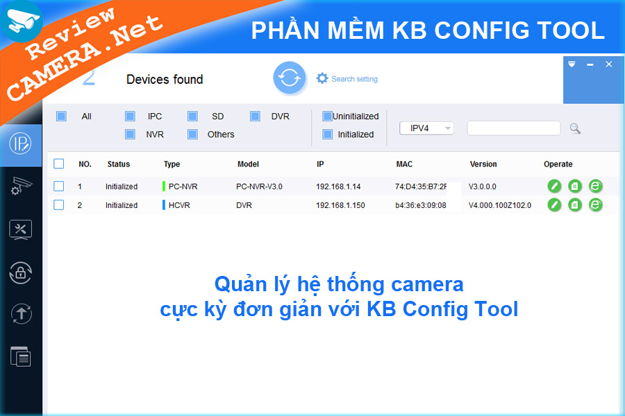 Phần mềm KB Config Tool