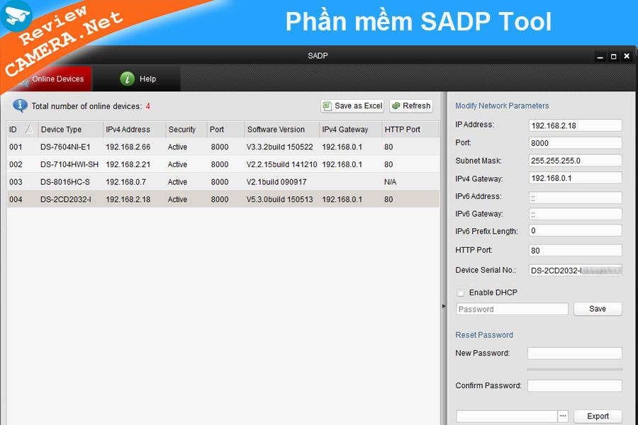 Phần mềm SADP Tool Kích hoạt camera Hikvision