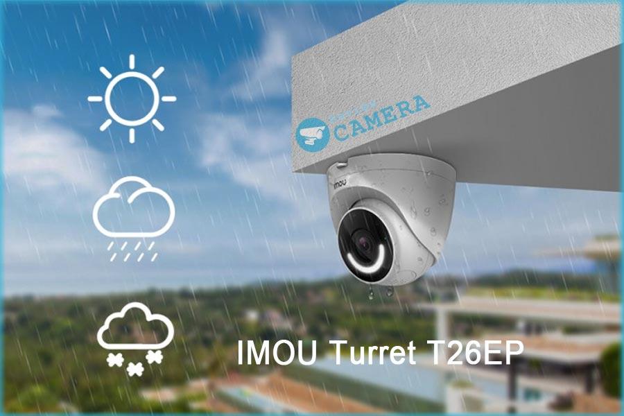Review Camera IMOU Turret T26EP - Hú còi chớp đèn khi phát hiện đột nhập