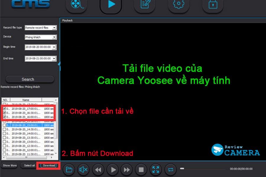 Tải video trong thẻ nhớ yoosee lưu về máy tính