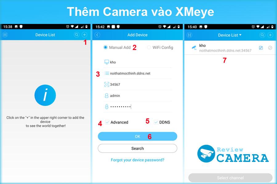Thêm camera vào XMeye