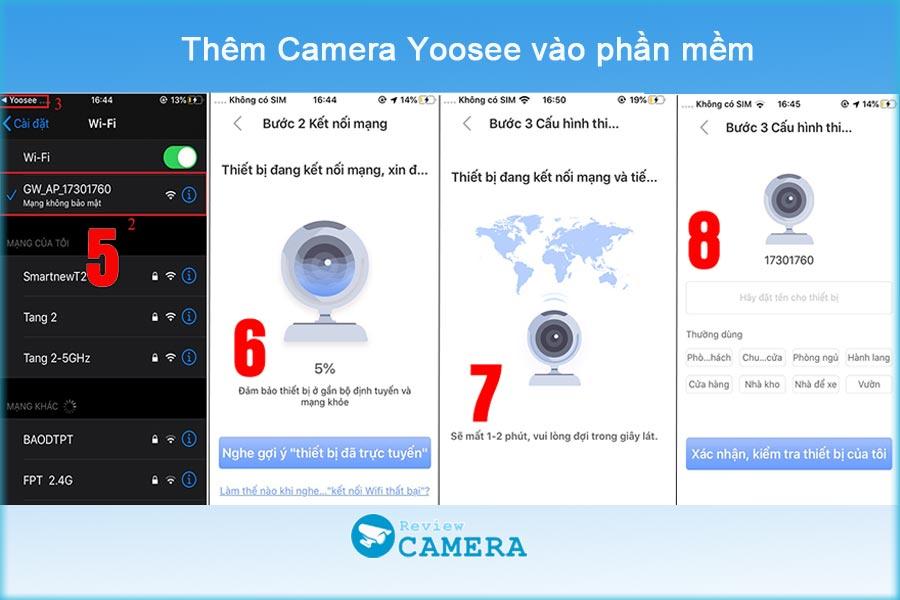 Hướng dẫn cài đặt camera yoosee