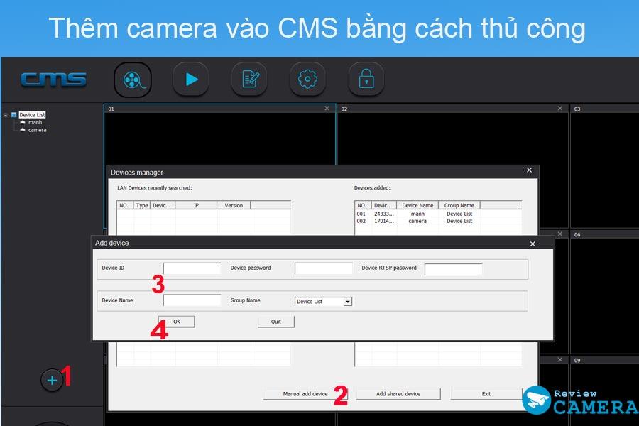 Thêm camera Yoosee trên máy tính
