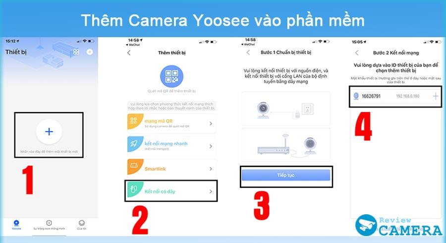cài đặt camera Yoosee
