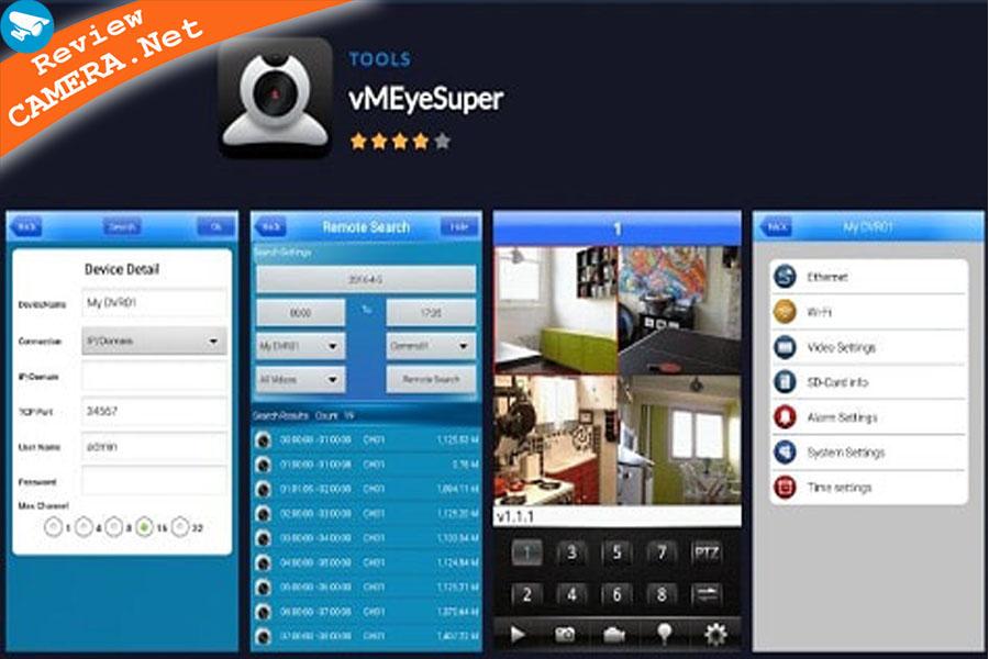 Phần mềm VmeyeSuper xem camera trên điện thoại