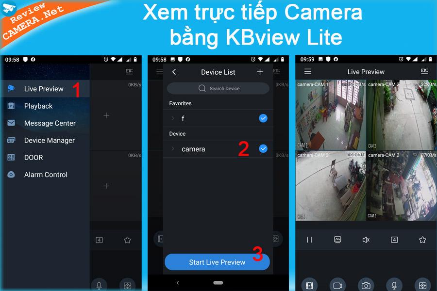 Xem camera bằng KBview Lite