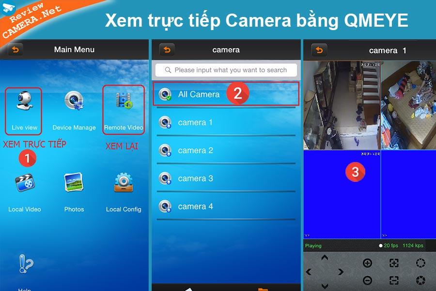 Xem camera Vantech bằng QMeye