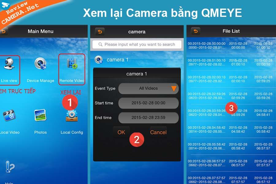 Xem lại camera Vantech bằng QMeye