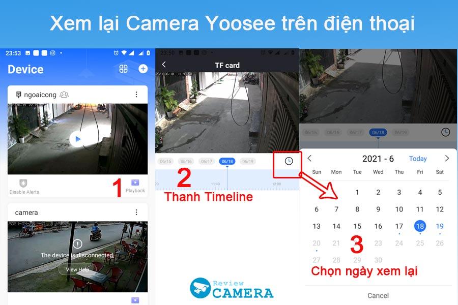 Xem lại camera yoosee trên điện thoại