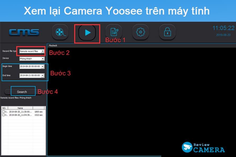 Xem lại camera Yoosee trên máy tính