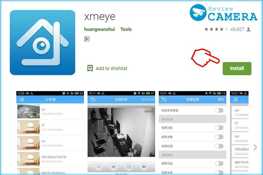 XMeye trên điện thoại
